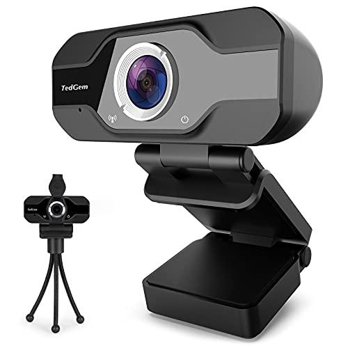 Scopri offerta per TedGem Webcam 1080p, PC Webcam con Microfono Full HD Webcam USB Webcam per videochiamate, Webcam per Windows, Android, Linux