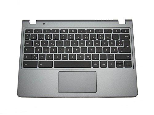 Acer Tastatur inkl. Topcase DE (deutsch) schwarz/grau Original 60.SHEN7.007 AC720 Chromebook / C720 Chromebook