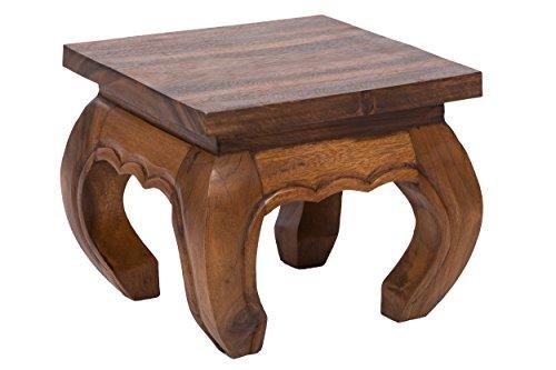 Opiumtischchen 30x30x23cm Massivholz Handarbeit, nußbraun