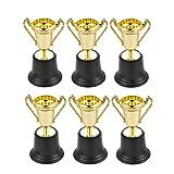 BESPORTBLE 6Pcs 10Cm Plastik Award Trophy Mini Award Trophy Gold Trophy Cups für Sportturniere Wettbewerbe Partys Kinder Party Belohnung