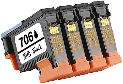 zzsbybgxfc Accessories for Printer PRTA23287 706 Print Head Replacement for HP 706 for Designjet D5800 Printhead F9J49A Printer - (Type: 1SET 4Pcs) (Color : Y)