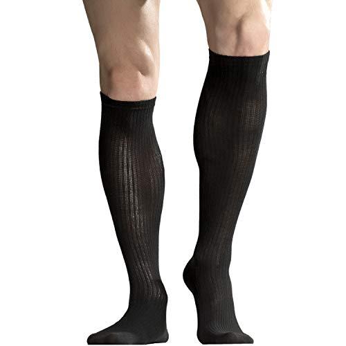 +MD 6 Pairs Compression Socks (8-15mmHg) for Women & Men - Summer Knee High Socks for Running, Medical, Athletic, Nurses, Travels, Edema, Anti-DVT, Varicose Veins, Shin Splints 6Black 10-13