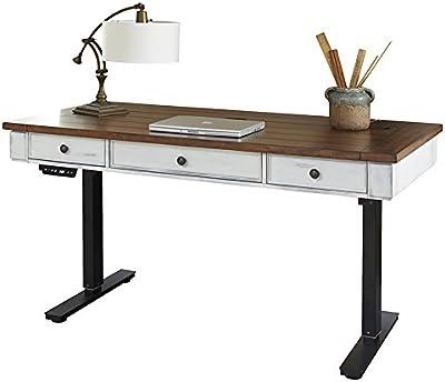 Martin Furniture Durham Sit/Stand Desk, White