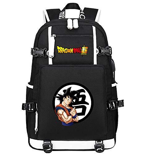 ZZGOO-LL Dragon Ball Son Goku/Vegeta IV/Torankusu Anime Laptop Backpack Bag Travel Laptop Daypacks Lightweight Bag with USB-C