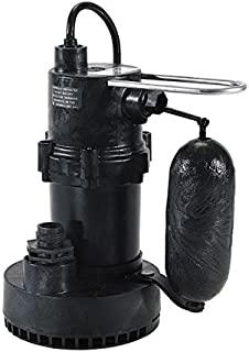 Little Giant 505700, 5.5-ASP 1/4 hp 35 gpm Sump Pump with Integral Snap-Action Switch,115V-60Hz