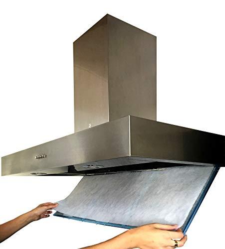Filtro Cappa Cucina Universale LUNGA DURATA. 50x90 centimetri. Ritagliabile a Misura In Fibra Antigrasso ed Autoestinguente.