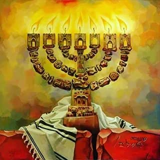 5D Judaism Hanukkah Full Drill Round Diamond Painting Kits Embroidery Cross Stitch Mosaic by Numbers Rhinestone Craft Canvas for Home Wall Decor 35x35cm/14×14IN
