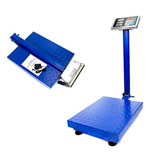MOCCO 660lbs/300kg Industrial Platform Weight Computing Bench Scale Accurate Digital Large Platform Shipping Balance Postal Scales for Postal Shipping Mailing Package Price Computing Warehouse Luggage