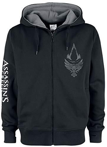 Assassin's Creed Valhalla - Rabe & Symbol Männer Kapuzenjacke schwarz/grau XL