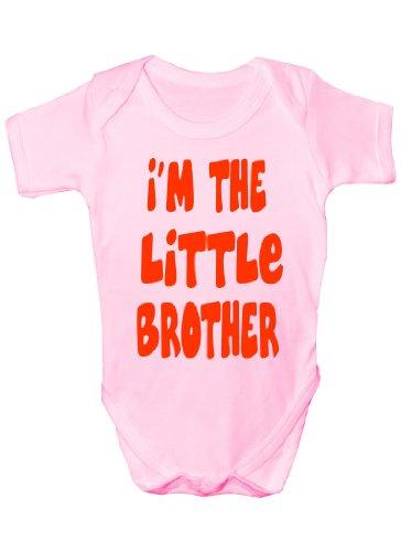 i'm The Little Brother Cadeau humoristique Body bébé fille/garçon Sans manches pour bébés - Rose -