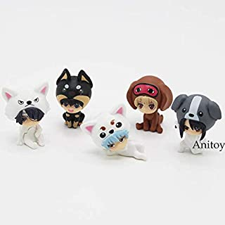3.5-4cm (1.4-1.6 inch) 5pcs/Set Anime Gintama Mini Cute PVC Figure