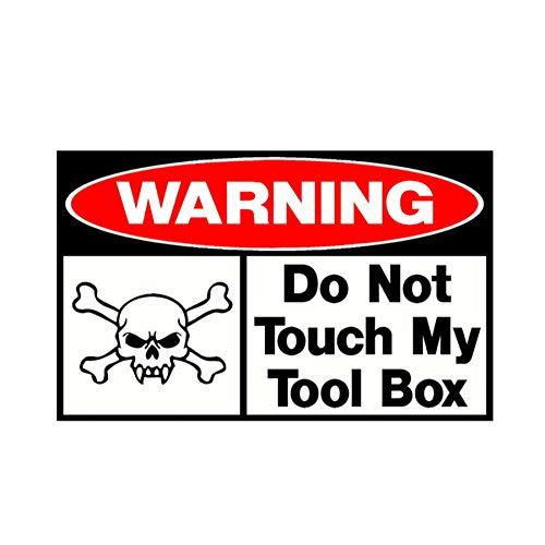 luyiwzd Tekst Auto Sticker Vinyl Decal Niet Raak Mijn Tool Box Grappige Pvc Schedel Auto Sticker Decal 16Cmx9.8Cm
