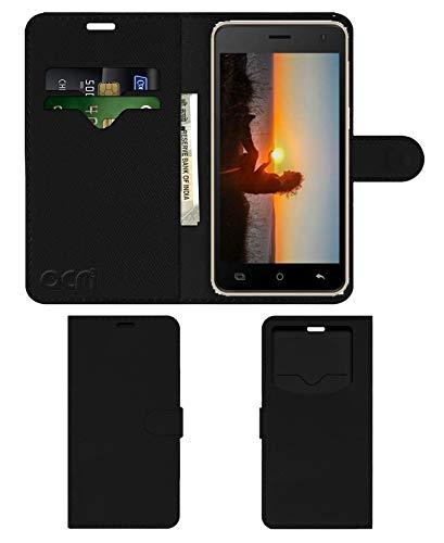 ACM Faux Leather Flip Cover for Karbonn K9 Smart Eco - Black