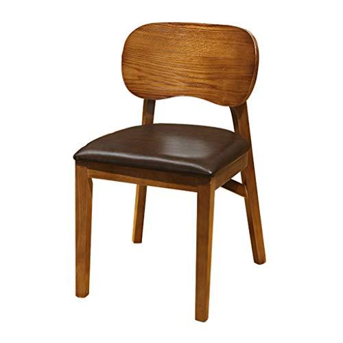 hsj LF- Silla de comedor, silla de escritorio simple, respaldo creativo, silla de ocio, silla de comedor para adultos (color: marrón)