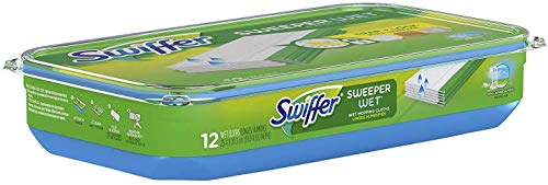 Swiffer Sweeper Wet Mopping Pad Refills for Floor Mop Open Window Fresh Scent 12 Count - 1 Pack