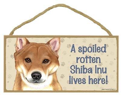 A Spoiled Rotten Shiba Inu Lives Here Holz Schild