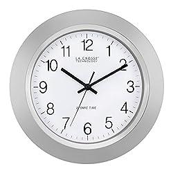 La Crosse Technology WT-3144S 14 Inch Atomic Analog Silver Wall Clock