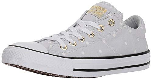 Converse Women's Madison Mini Dots Low Top Sneaker, Pure Platinum/Gold/White, 8 M US