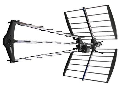 König ANT-UHF52L-KN Antenna Ricezione Segnali UHF & DVB-T con filtro LTE, Nero