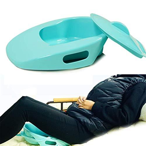 GHzzY Padella per la casa, l'ospedale e i Viaggi - Toilette Portatile con Coperchio - Vasino in plastica per Anziani, in Stato di Gravidanza e costretto a Letto