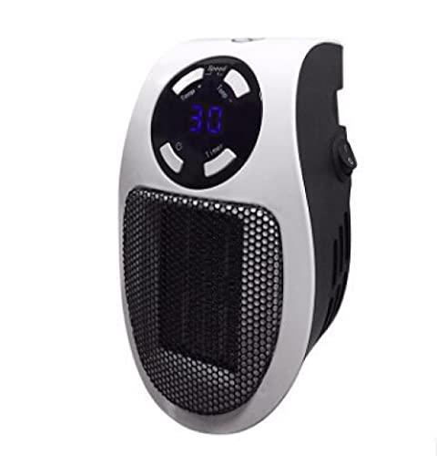 DDH Calentador de Espacio de 350W, Calentador Personal de Pared programable Personal Se ha Visto en la TV con termostato y Temporizador Ajustables y Pantalla -White