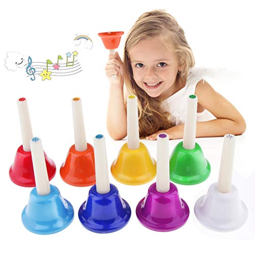 Childrens Jingle Sleigh Bells 7 Large Foot Hand Mounted Classroom Rhythm Band