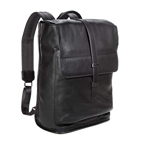 Leather 13' Backpack Laptop/Tablet for men or women in Black