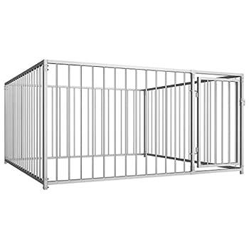 Festnight Chenil d'extérieur pour Chiens Cages à Chien Polyvalente 200 x 200 cm