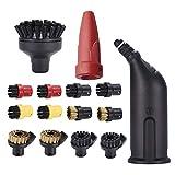 OVBBESS Limpiador de vapor de la boquilla de la cabeza redonda cepillos kits de cepillo para Karcher SC serie SC1 SC2 SC3 SC4 SC5 parte Accesorios