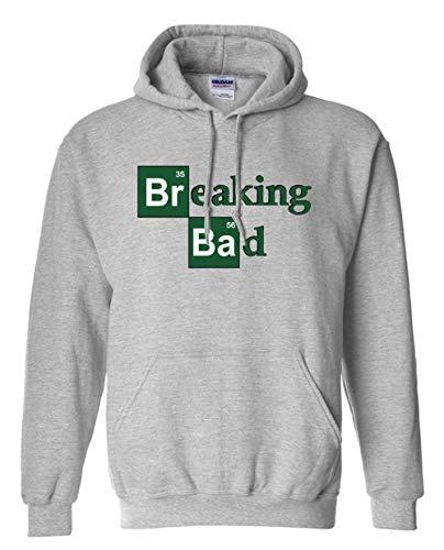 Coooi Sweatshirt Herren Bodybuilding Herren Sweatshirt Mode Breaking Bad Baumwolle Langarm Kapuzen Herren Streetwear B L