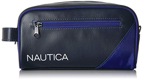 Nautica Men's Top Zip Travel Kit Toiletry Bag Organizer, royal blue, One Size