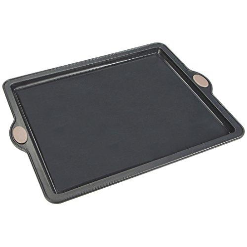Levivo Silikon Backform Rechteck, Silikonbackform für Blechkuchen & Pizza, Kuchenform 31.5 x 25.5 cm, Antihaft Kastenform Kuchen, Form Grau