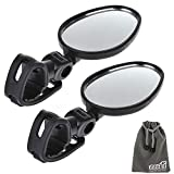 EEEKit 2 Packs Bundle Universal Mini Rotaty Rearview Handlebar Glass Mirror for Mountain