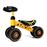 Baby Balance Bikes – Toddler Ride on Toys – Gifts for 1 2 3 Year Old Boys and Girls (Yellow)