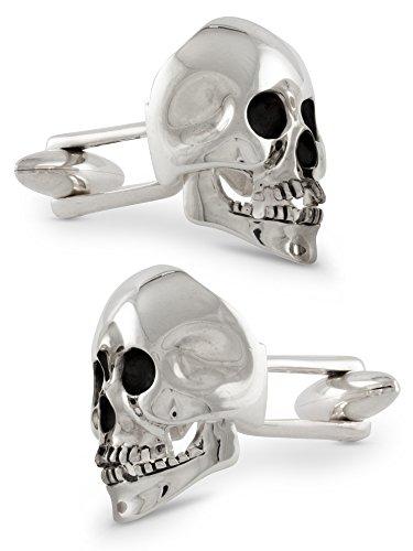 ZAUNICK Skull Manschettenknöpfe, beweglich, Silber 925 handgefertigt