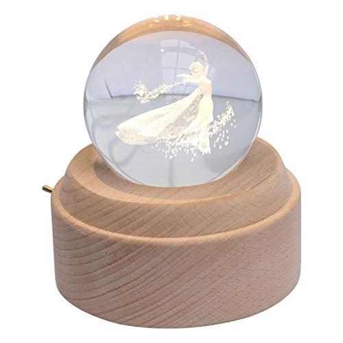 DONGTAISHANGCHENG Bola de Cristal Crystal Ball Princess Music Box Crystal Ball Girl...