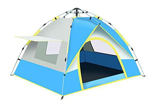 KKING Outdoor Pop-Up Tent, Airy And Comfortable Dome Tent with One Door And Three Windows, Suitable for Camping,blue gray