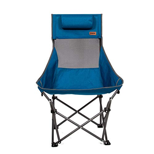 Mac Sports XP HighBack Folding Camping Chair | Outdoor Back/Lumbar Support Lightweight Weighs Under 6lbs Heavy Duty Supports 225lbs for Camping Hiking Gaming Backpacking Sports Hunting | Blue