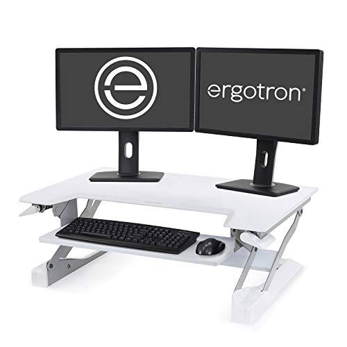 Ergotron WorkFit-T Sitz-Steh-Schreibtisch-Arbeitsplatz Weiss Anhebung bis 38cm belastbar bis 15 kg