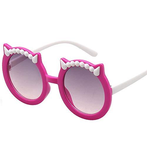 BTTNW Gafas de Sol para niños Los Niños De Dibujos Animados De La Personalidad Al Aire Libre Y Los Oídos Niñas Gafas De Sol De Las Gafas De Sol del Diablo Gafas de Sol Muchachas de los niños
