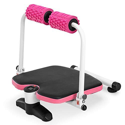 Home Gym Gewichtheben Bank, Bauch-Übung Ausrüstung Core-Trimmer for Männer Frauen zusammenbauen leicht gespeichert (Color : Pink, Size : One Size)