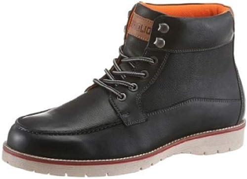 Petrolio Schuhe Stiefel Stiefel SchwarzLeder