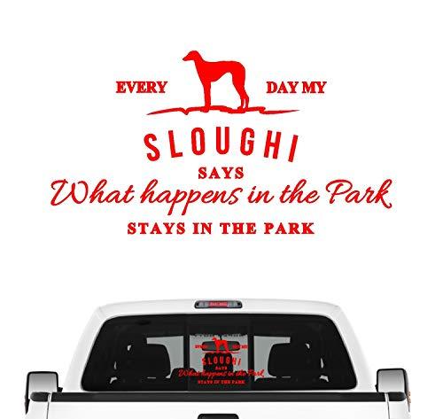 Siviwonder Sloughi Vintage Hundeaufkleber Hundemotiv Auto Folie Nordfrikanischer Berber Farbe Rot, Größe 30cm