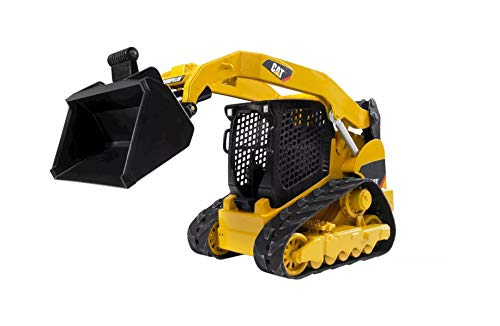 Bruder Toys - Construction Realistic CAT Compact Track Loader with Adjustable and Lockable Loading Arm and Moveable Rubber Chains - Ages 3+