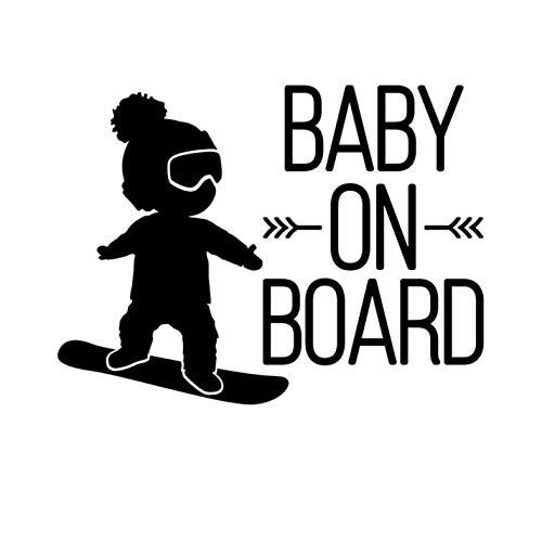mural stickers Adesivo Bebe a Bordo Snowboard - Bambino a Bordo - Bambina a Bordo - Adatti per Auto - Moto E Computer - - - Sticker, Decal, Adesivo - - - Copyright © 2017 (Nero)