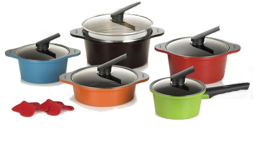 Happycall 10 Piece Nonstick Lightweight Cookware Set