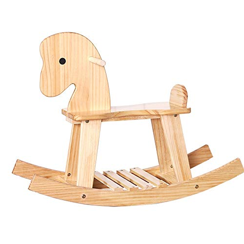 LIUXING-Toys Schaukelstuhl für Kinder, Schaukelpferd für Kleinkinder, Spielzeug, Geschenk (Farbe: Holz, Größe: 55 x 70 cm)