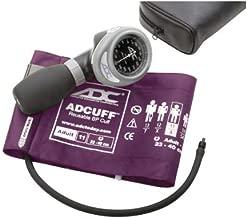 ADC Diagnostix 703 Palm Style Aneroid Sphygmomanometer with Adcuff Nylon Blood Pressure Cuff, Adult, Purple