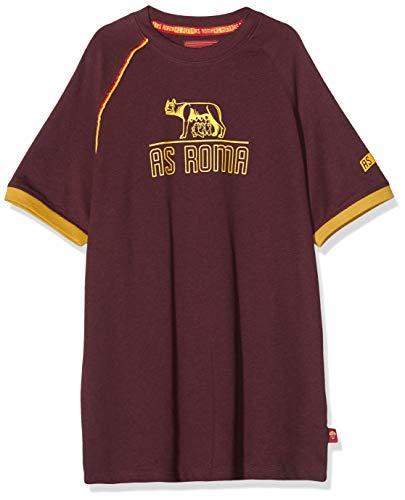 AS Roma T-Shirt Girocollo Bambino Bordeaux Lupa, 10