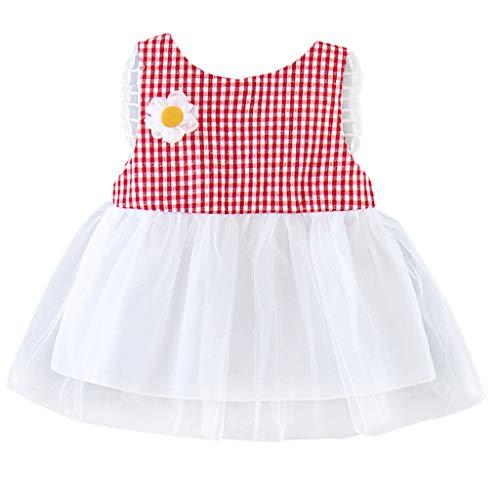 Allence Baby Kleid Mädchen Sommerkleid Kinderkleider Prinzessin Kleid Rabbit Ears Striped Schön Rock Outfits Tüll Kleid